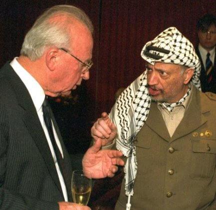 Image result for isaac rabin yasser arafat